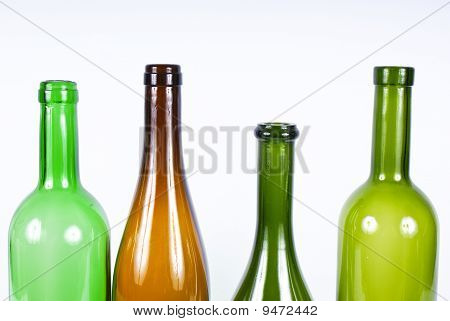 Four colored bottle