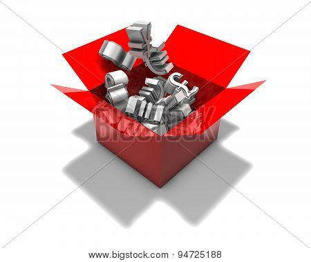 D Abstract Forex Market Concept Illustration Isolated