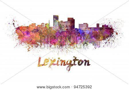 Lexington Skyline In Watercolor