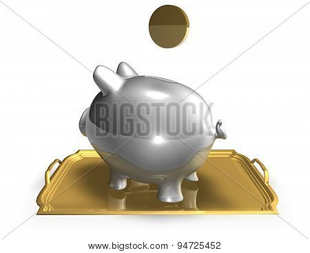 Saving Money Financial Concept Illustration With Piggy Bank
