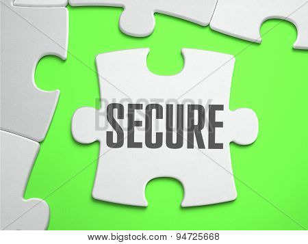 Secure - Jigsaw Puzzle with Missing Pieces.