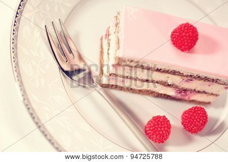 Delicious Cake With Berries