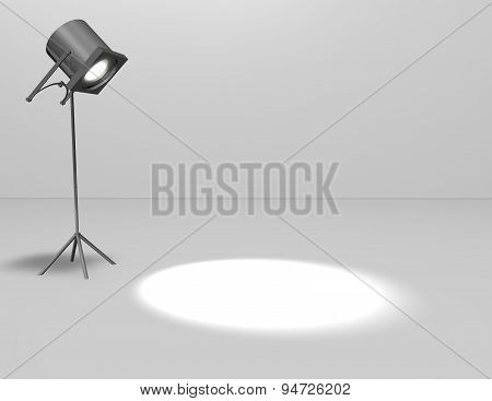 Background With Lamp Light And Copy Space