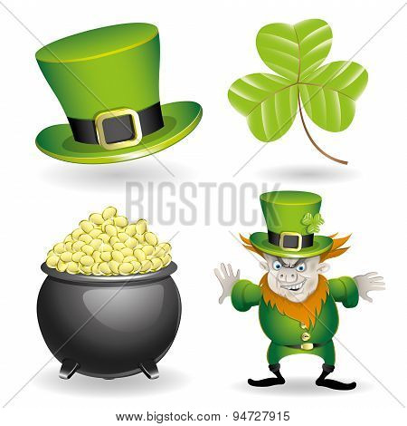 Vector set of St. Patrick