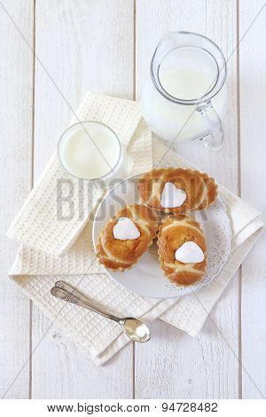 Pastry And Fermented Milk Drink