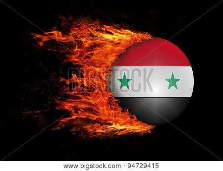 Flag With A Trail Of Fire - Syria