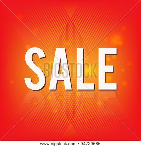 Sale banner with abstract background