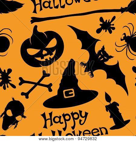 Halloween seamless background.