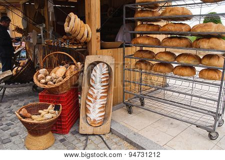Traditional Hungarian homemade bread