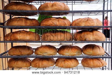 Homemade bread on fair