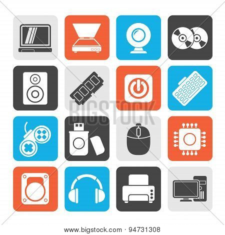 Silhouette Computer Parts and Devices icons