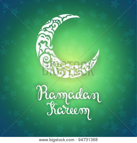 Ramadan Kareem vector card