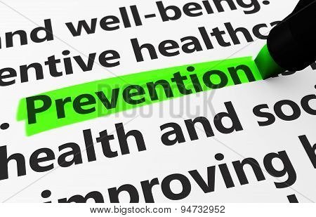 Healthcare Prevention Concept