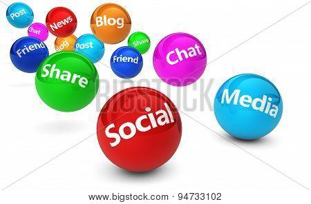Social Media Web Concept