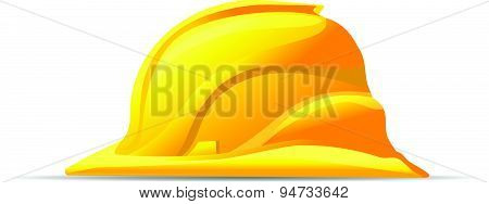 Yellow Hard Hat Safety Symbol Vector Icon
