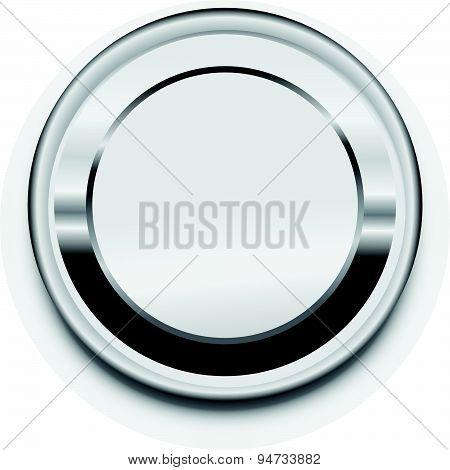 Metal Blank Button Frame Vector Design Elemet