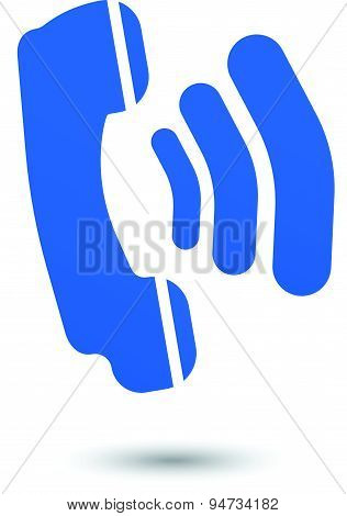 Ringing Phone Vector Symbol Icon Sign