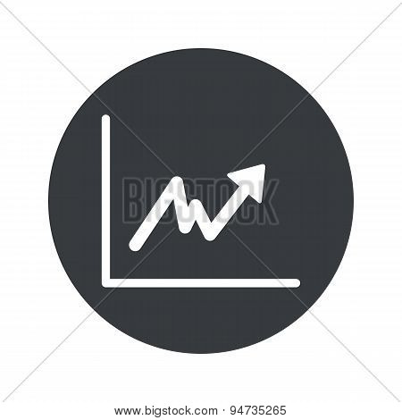 Monochrome round rising graphic icon
