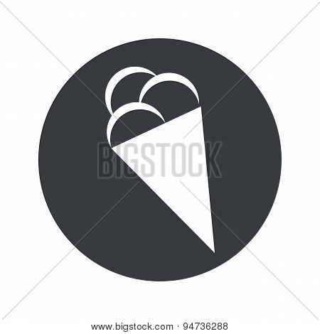 Monochrome round ice cream icon