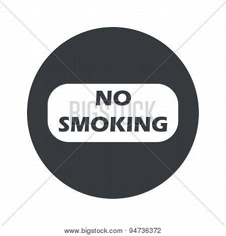 Monochrome round No Smoking icon