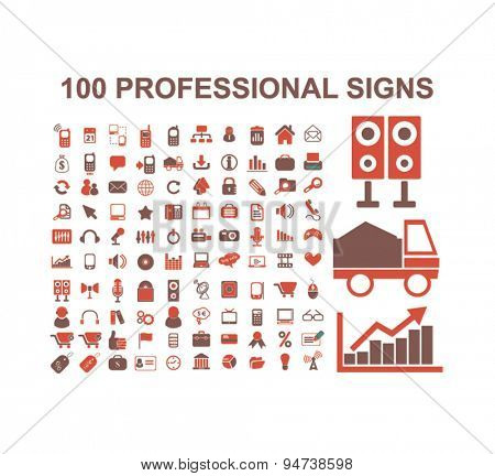 professional business icons, illustrations