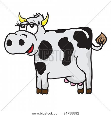 cow cartoon illustration isolated on white