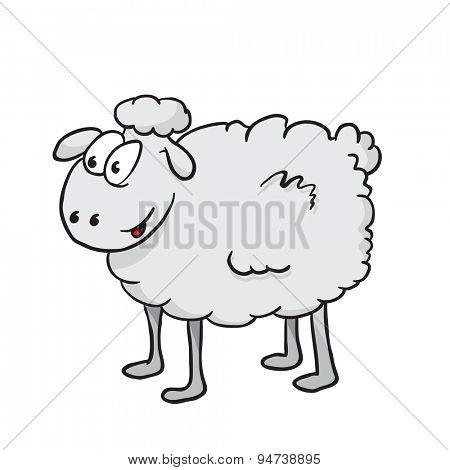 sheep cartoon illustration isolated on white