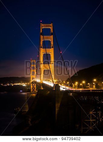 Golden Gate Bridge in San Francisco at night