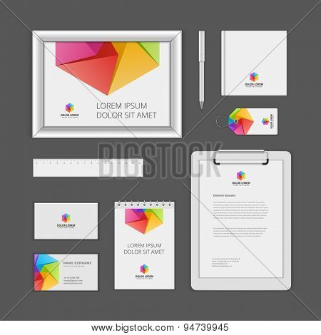 Corporate Identity Template with Logotype. Vector Illustration of Business Corporate Objects
