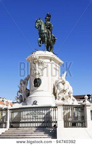 Commerce Square (Portuguese: Praca do Comercio) in Lisbon, Portugal.
