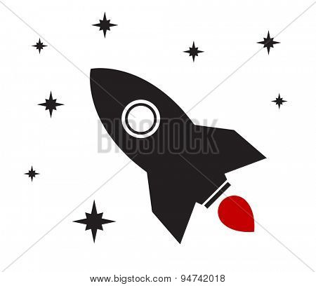 rocket icon spaceship design