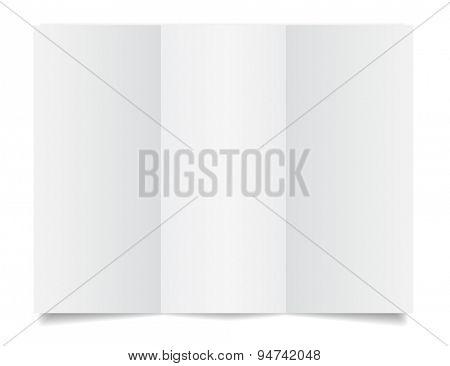 blank leaflet - white color