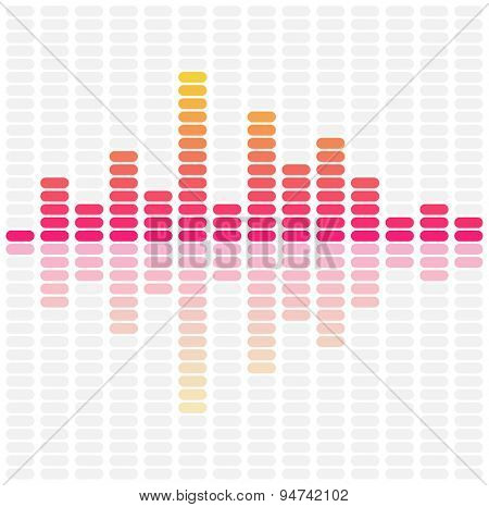 Abstract sound waves equalizer. Audio pulse music. Vector illustration