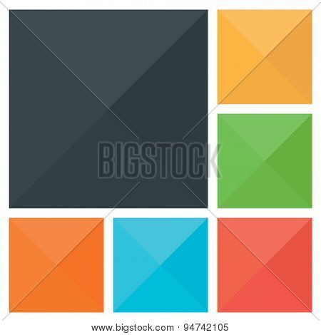 Flat vector background. Color illustration of abstract squares. Background design for web poster cards flyer cover brochure button