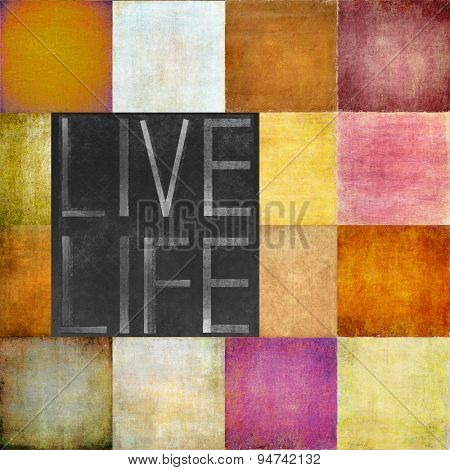 Textured background image depicting the words