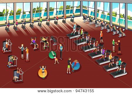 Scenes Inside A Fitness Center