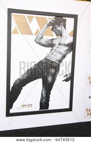 LOS ANGELES - JUN 25:  Matt Bomer Magic Mike XXL Poster at the