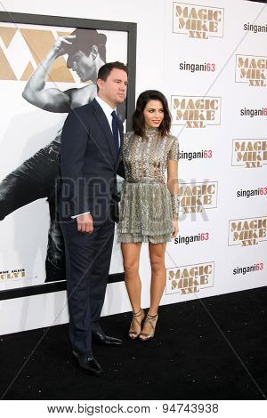 LOS ANGELES - JUN 25:  Channing Tatum, Jenna Dewan-Tatum at the