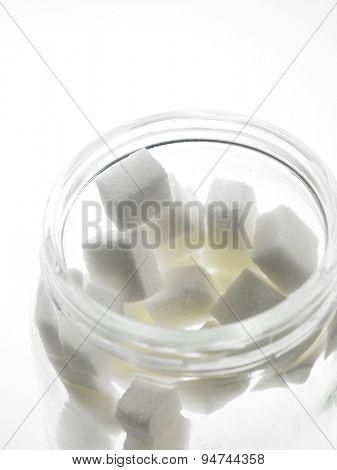 cube sugar in the  jar