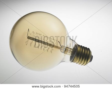 retro light bulb design on the white background