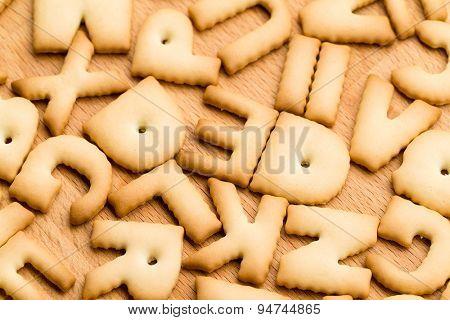 Baked letter biscuit