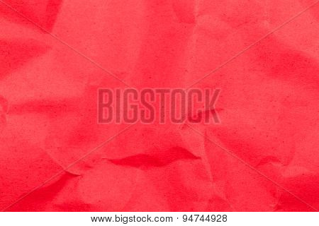 Red crumbled textured paper