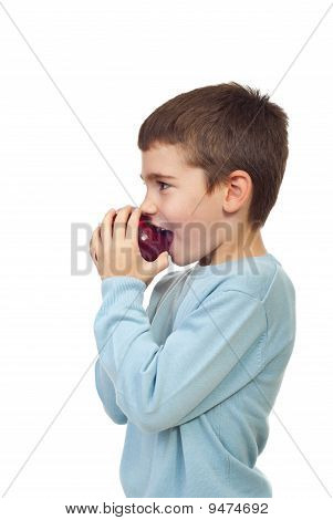 Boy Biting Apple