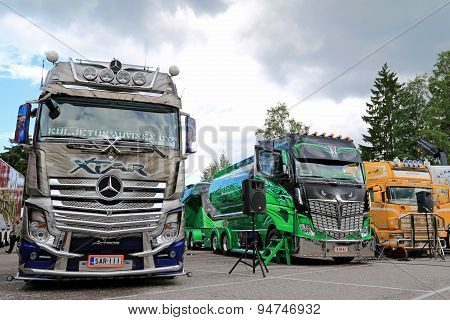 Trucks Of Kuljetus Auvinen At Riverside Truck Meeting 2015