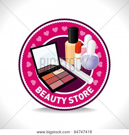 Beauty store. Vector emblem