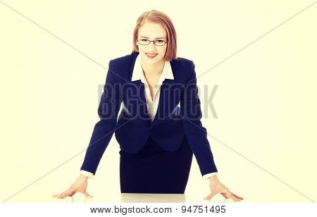 Nice businesswoman at the desk