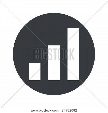 Monochrome round volume scale icon