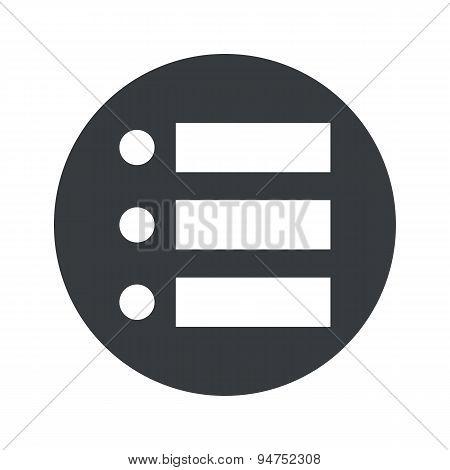 Monochrome round dotted list icon