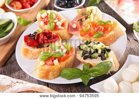 bruschetta and ingredient