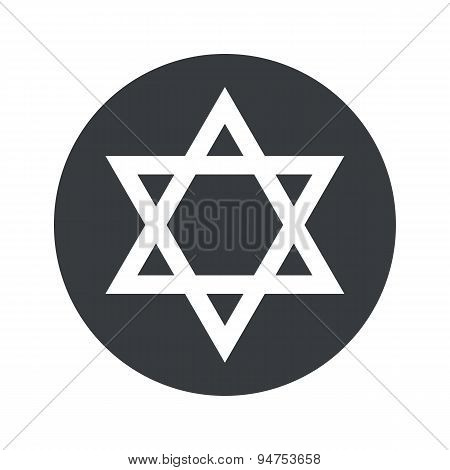 Round Star of David icon